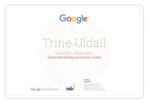 Google certifikat i Digital Marketing Trine Uldall