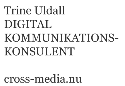 Trine Uldall, Digital kommunikationskonsulent, cross-media.nu