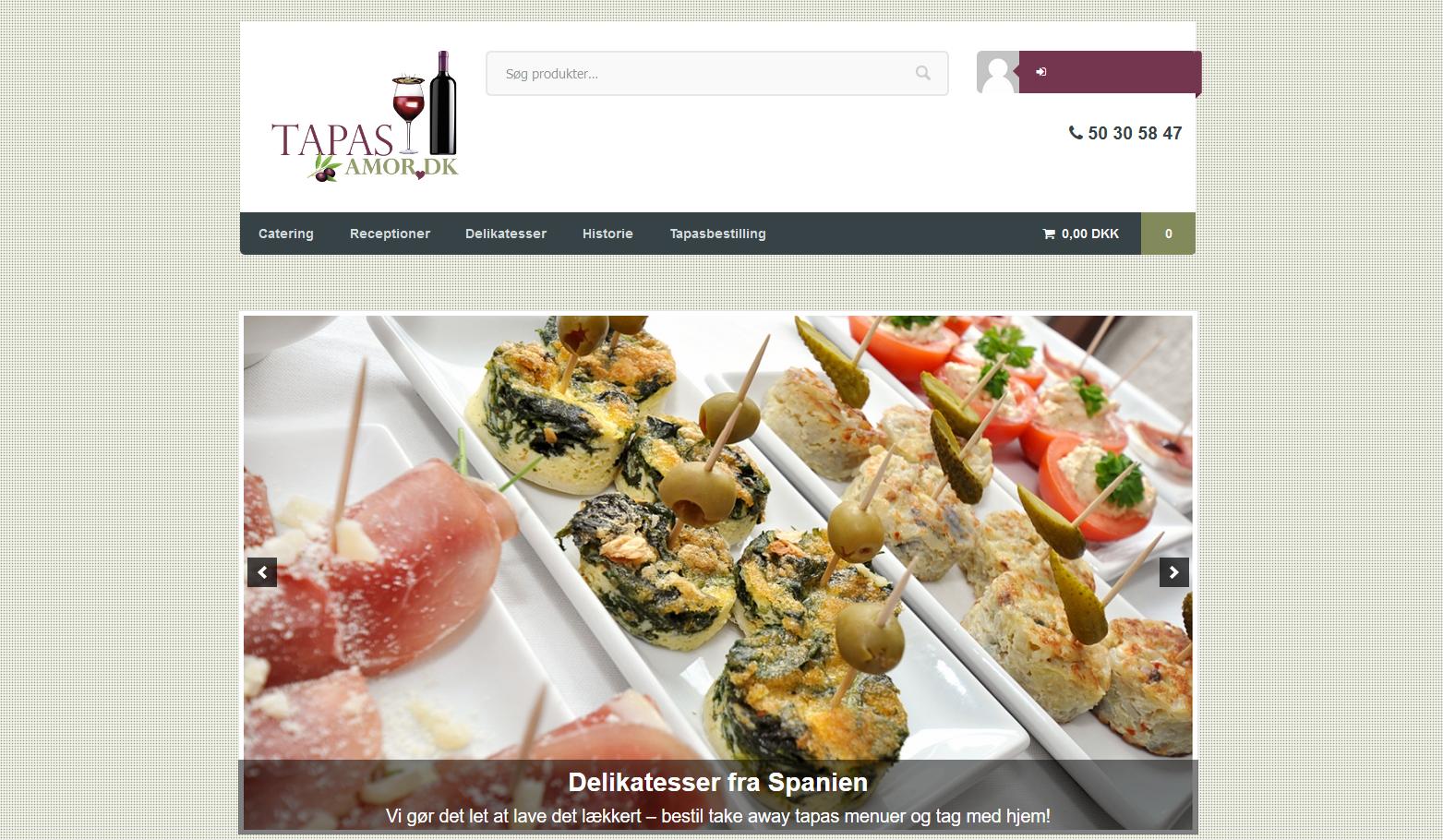 Tapasamor WordPress Webshop
