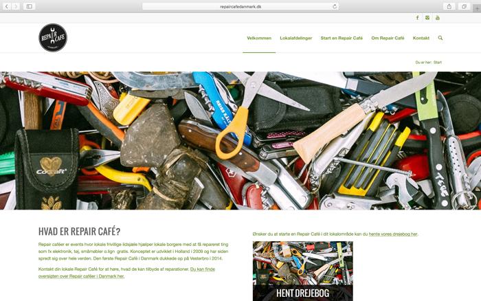 Wordpress Website Til Repair Café Danmark