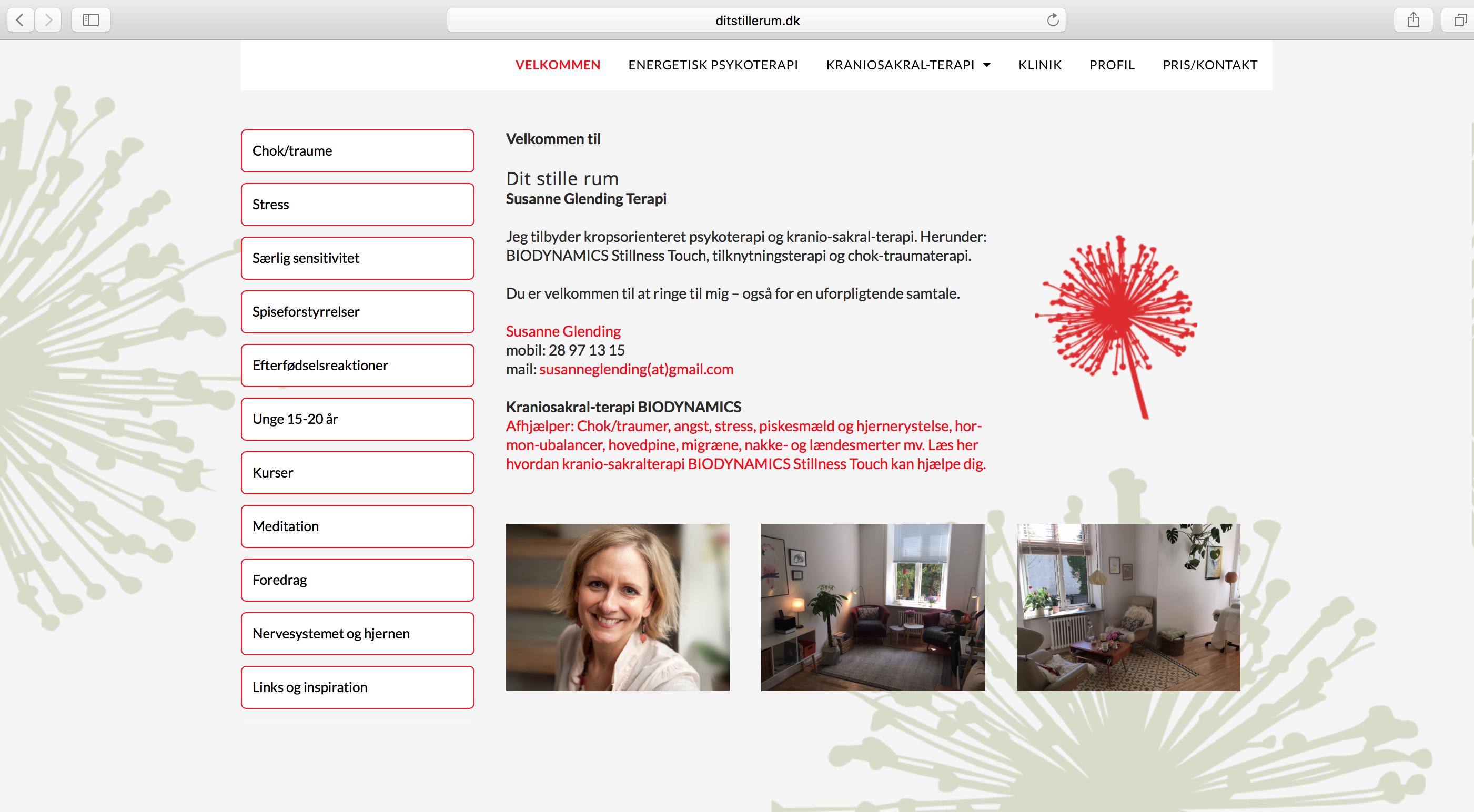 Susanne Glending Responsivt Wordpress Website