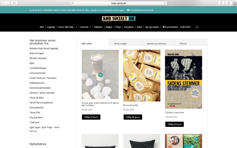 Køb-socialt - en wordpress webshop