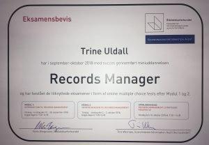 Certificeret i Records Management