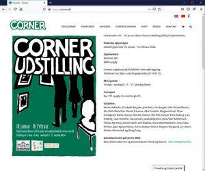 Corner.dk wordpress og woocommerce leveret af cross-media.nu