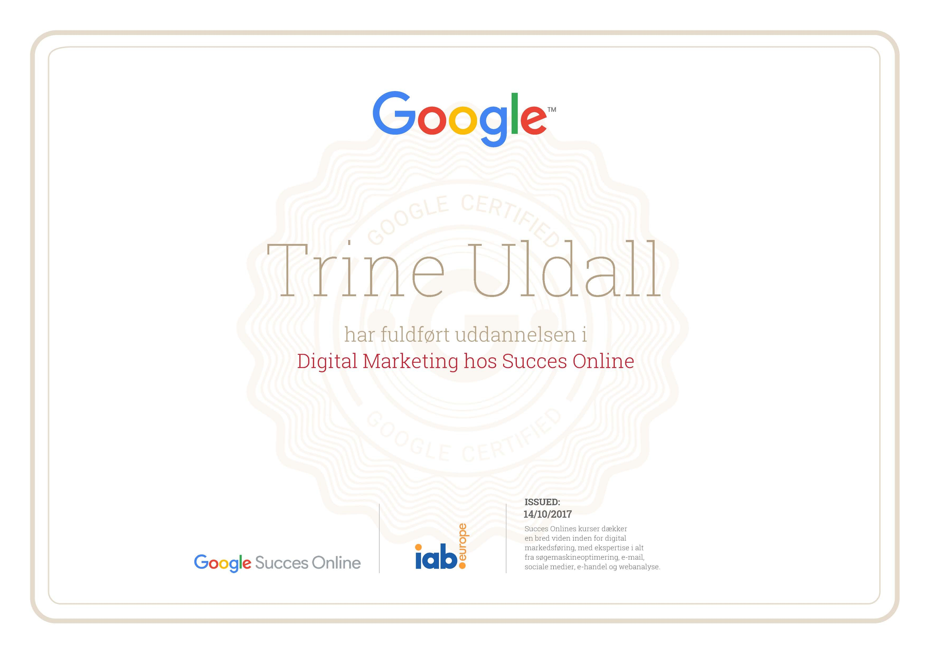 Google certificeret i digital marketing