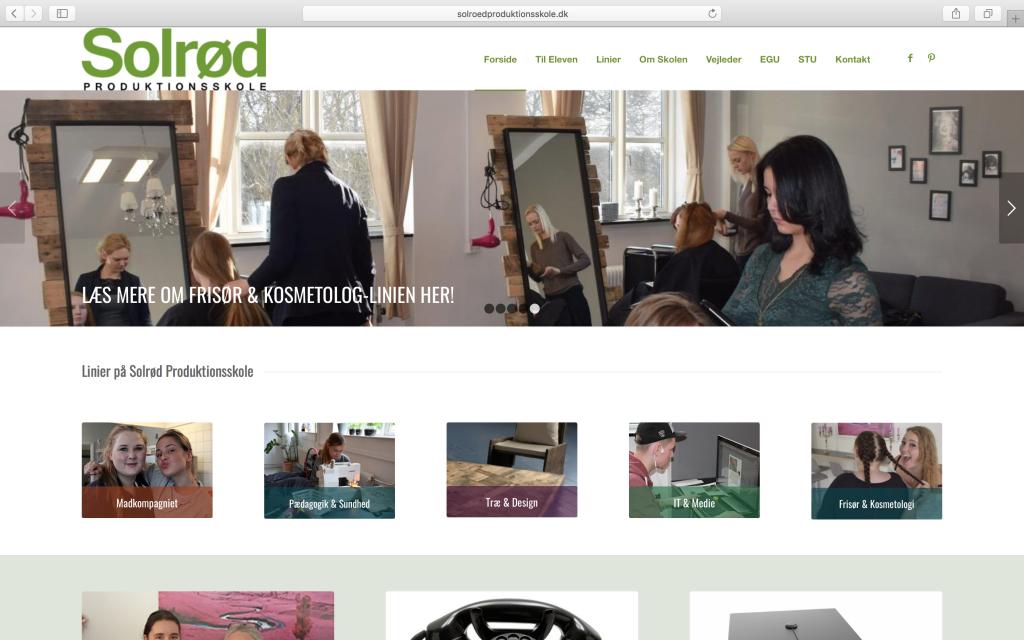 Wordpress hjemmeside til Solrød Produktionsskole