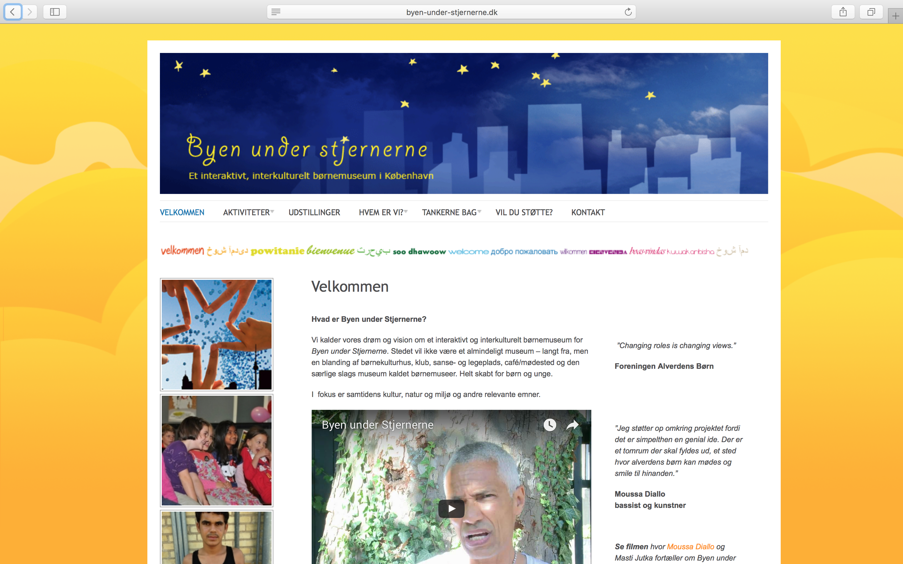 Wordpress Website Byen Under Stjernerne