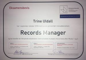 Certificeret i Records Management