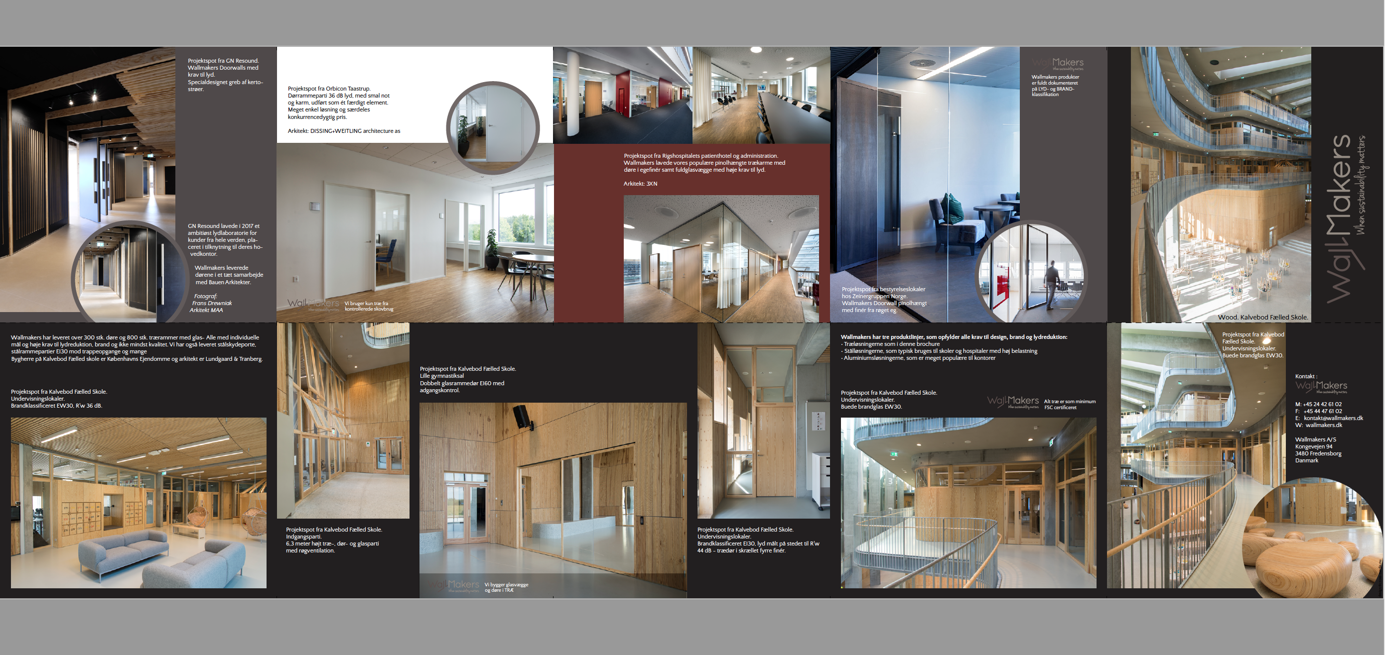 Grafisk Design Af Stor Brochure For Wallmakers