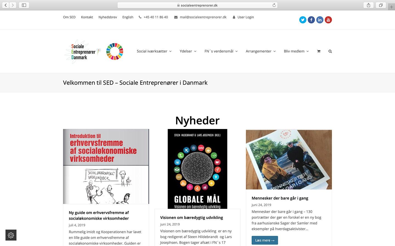 Webplatform for Sociale Entreprenører i Danmark, med salg af medlemsskaber og billetter.