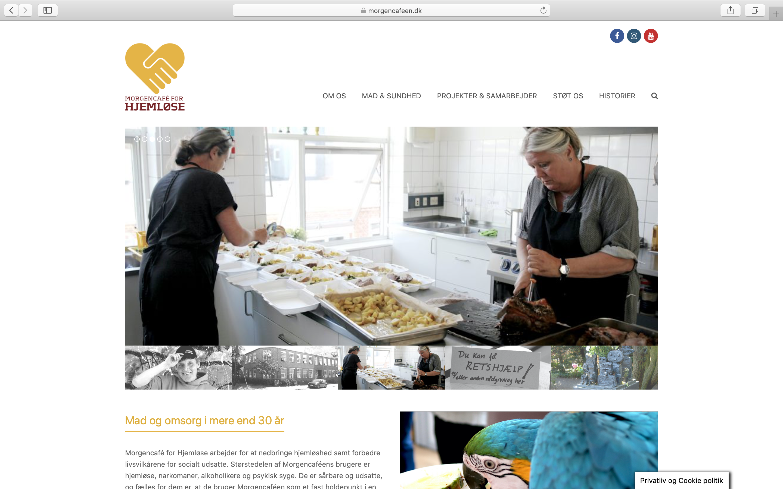 Nyt Wordpress Site Til Fonden Morgencafeen For Hjemløse
